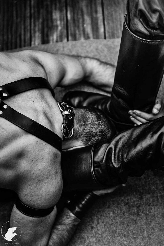 Leather Alpha boy Boots Worship